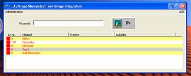 Screenshot vom Programm: II_Auftrags-Stempelzeit